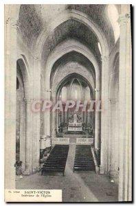 Postcard Old Saint Victor Interior of the church