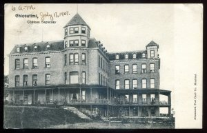 dc1763 - CHICOUTIMI Quebec Postcard 1907 Chateau Saguenay