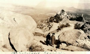 c1920's Mt Rubidoux Redlands California CA Riverside RPPC Photo Vintage Postcard