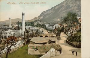 1908 Gibraltar Postcard: The Town From The South, Ferrary Published
