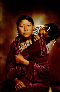 Young Cheyenne Indian Mother and Child Montana Territory