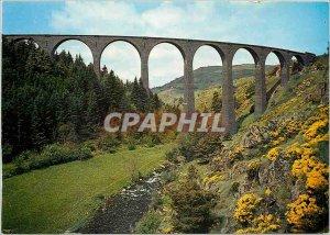 Postcard Modern Monastier sur Gazeille (Haute Loire) Alt 950 m viaduct Recoum...