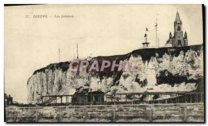 Old Postcard Dieppe Cliffs