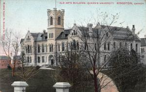 Old Arts Building, Queen's University, Kingston, Canada, early postcard, Unused