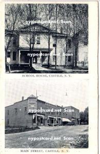 School House & Main Street, Castile NY