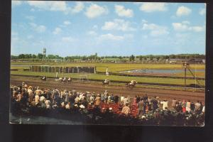 HOMEWOOD ILLINOIS WASHINGTON PARK HORSE RACING RACE TRACK OLD POSTCARD