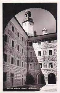 Austria Innsbruck Schloss Ambras innerer Schlosshof Real Photo