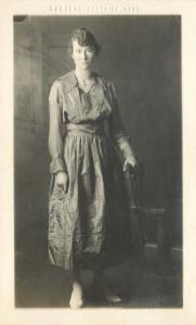 Liesing Vienna~Real Photo Postcard~Photographer Atelier Stefanie~Lady & Son~1909