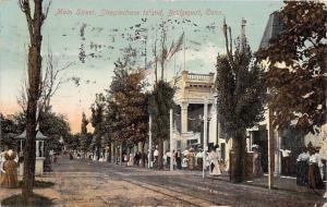 Bridgeport Connecticut~Main Street Steeplechase Island~Victorian Crowd~1911 PC
