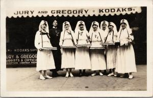 Collingwood ON Nurses Red Cross ?? Jury & Gregory Kodak 1910s RPPC Postcard E61