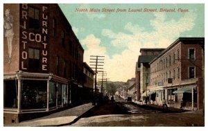 Connecticut Bristol , North main Street from Laurel Street