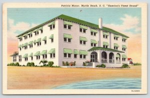 Myrtle Beach South Carolina~Patricia Manor~View from Beach~1940s