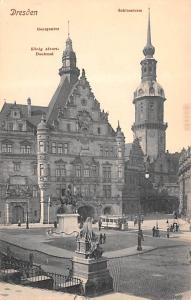 Dresden Germany Georgentaor Schlossturm Dresden Georgentaor Schlossturm