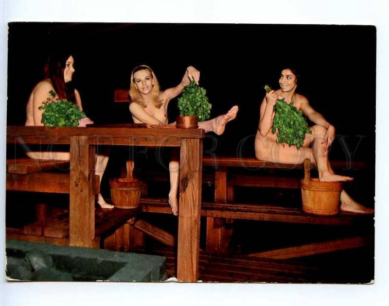 221848 Finland Finnish Sauna Nude girls old photo RPPC