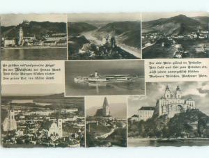 old rppc NICE VIEW Postmarked Stift Melk - Melk Lower Austria Austria i3499