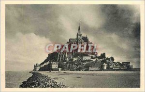 Postcard Old ABBEY OF MONT ST MICHEL-view generle -Face South