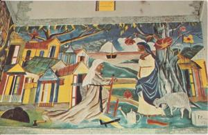 PORT AU PRINCE  - HOLY TRINITY CATHEDRAL / Mural by Fernand Pierre -1950s view