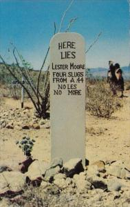 Arizona Tombstone Grave Of Lester Moore Boothill Graveyard
