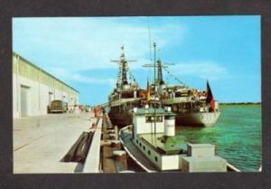 SC German Ships PORT ROYAL SOUTH CAROLINA Postcard
