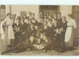rppc 1920's MANY PEOPLE CELEBRATING AT PARTY AC8875