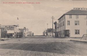 NORTH BATTLEFORD , Sask. , Canada , 1900-10s ; Main Street