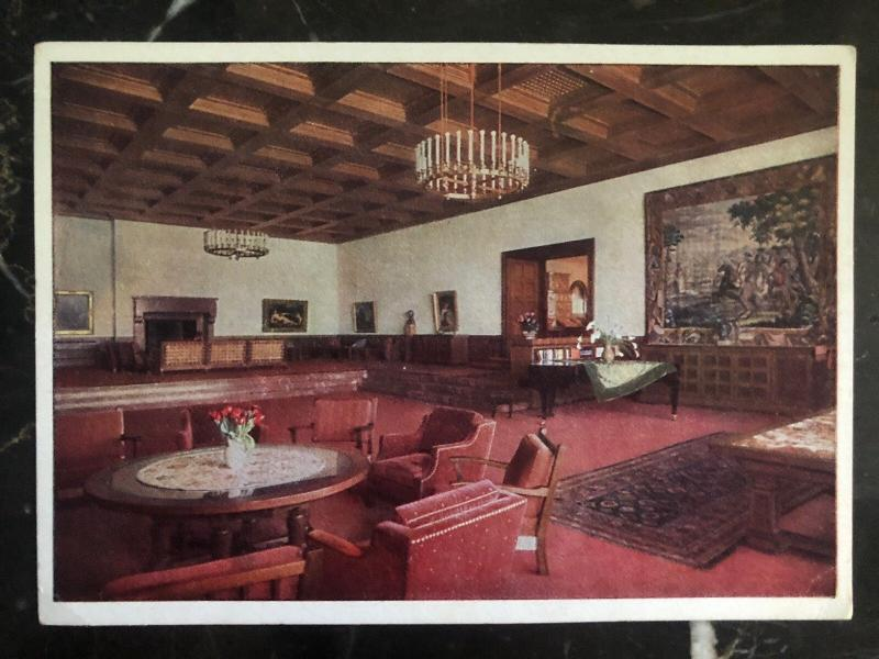 Mint Germany RPPC Color Picture Postcard Big Hall Leader House
