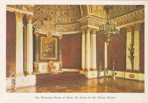 Russia Leningrad Memorial Room of Peter The Great In The Winter Palace