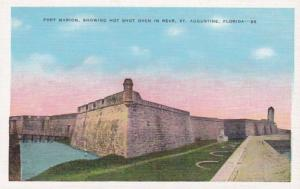 Florida St Augustine Fort Marion Showing Hot Shot Oven In Rear