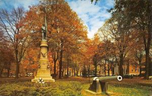 Meadville Pennsylvania~The Diamond Park~Civil War Soldiers Monument~Cannon~1960s
