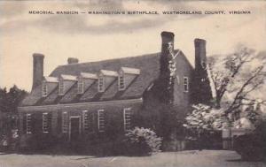 Virginia Westmorland County Memorial Mansion Washingtons Birthplace Artvue