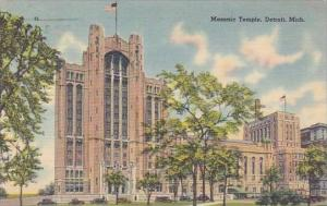 Michigan Detroit Masonic Temple 1942