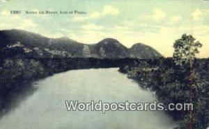 Scene on River Isle of Pines Republic of Cuba Writing on back