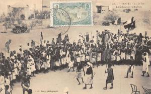 Djibouti 14 Juillet Rejouissances indigenes, vintage auto car voiture 1913