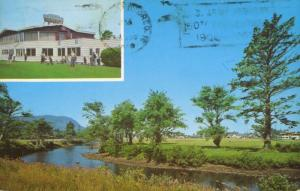 Golf Course Seaside Oregon OR Par-Tee Room Multiview c1966 Vintage Postcard E11