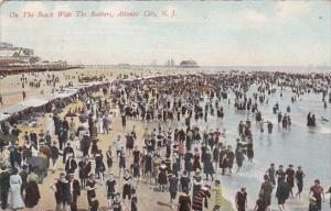 On The Beach With The Bathers Atlantic City New Jersey 1909