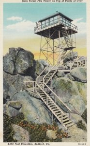 BEDFORD , Virginia , 30-40s ; State Forest Fire Tower , Peaks of Otter