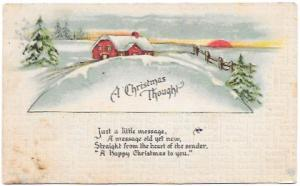 A Christmas Thought. Great card sent from Iowa in 1917. #499 booklet.