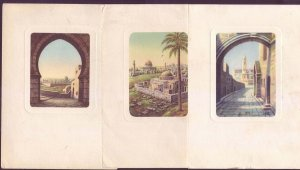 Israel Palestine Lot of 3 Jerusalem Postcards Judaica - Printed in Milano Italy