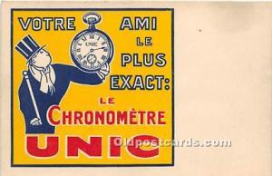 Advertising Postcard - Old Vintage Antique  Le Chronometre Unic