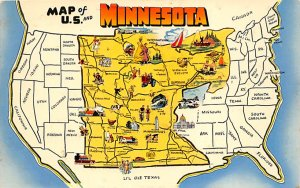 Maps Minnesota USA Unused