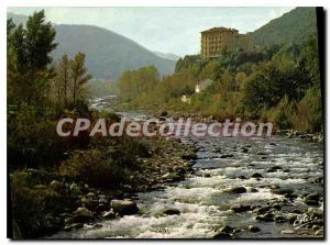 Modern Postcard Amelie les Bains Pyrenees Orientales The Tech dominated by St...