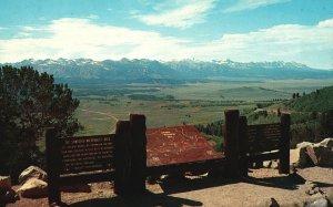 Vintage Postcard Galena Summit and Stanley Basin Sawtooth Mountain Range Idaho