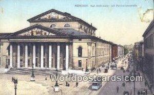 Kgl Hoftheater mit Maximilianstrabe Munchen Germany Unused