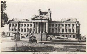 RP; MONTEVIDEO, Uruguay, 1950s; Palacio Legislativo, Street Car