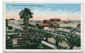 Panorama Corpus Christi Texas 1930s postcard