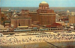 Chalfonte-Haddon Hall Atlantic City AC NJ New Jersey aerial view beach Postcard