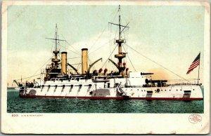 1900s U.S. Navy Ship Postcard U.S.S. KENTUCKY Battleship Detroit Pub. Unused