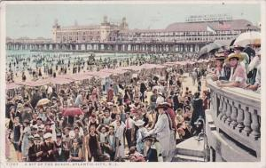 A Bit Of The Beach Atlantic City New Jersey 1918