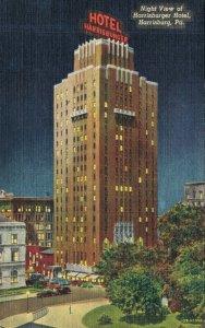 USA Pennsylvania Harrisburg Night View of Harrisburg Hotel 05.65