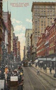 PHILADELPHIA , Pa. , 1913 ; Chestnut Street , West from 11th Street